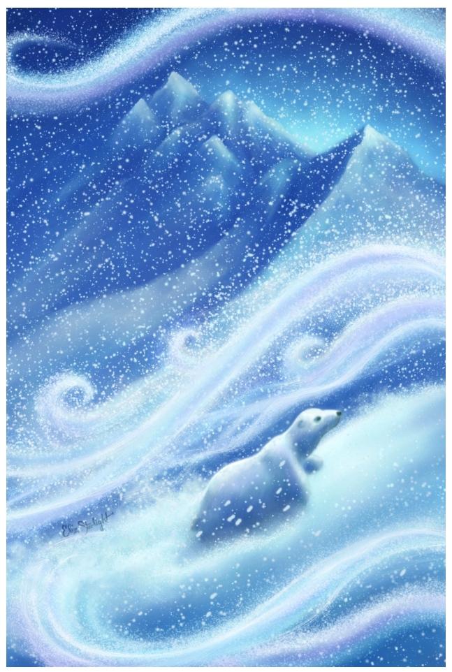 Polar Bear Promise illustration snowy mountains