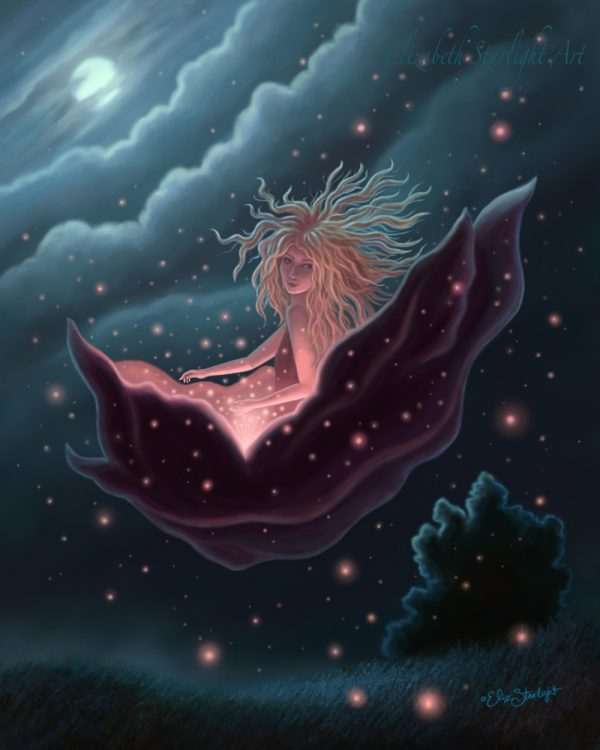 Uplifted, illustration on canvas